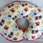 Boppy Pillow Cover White Ro..